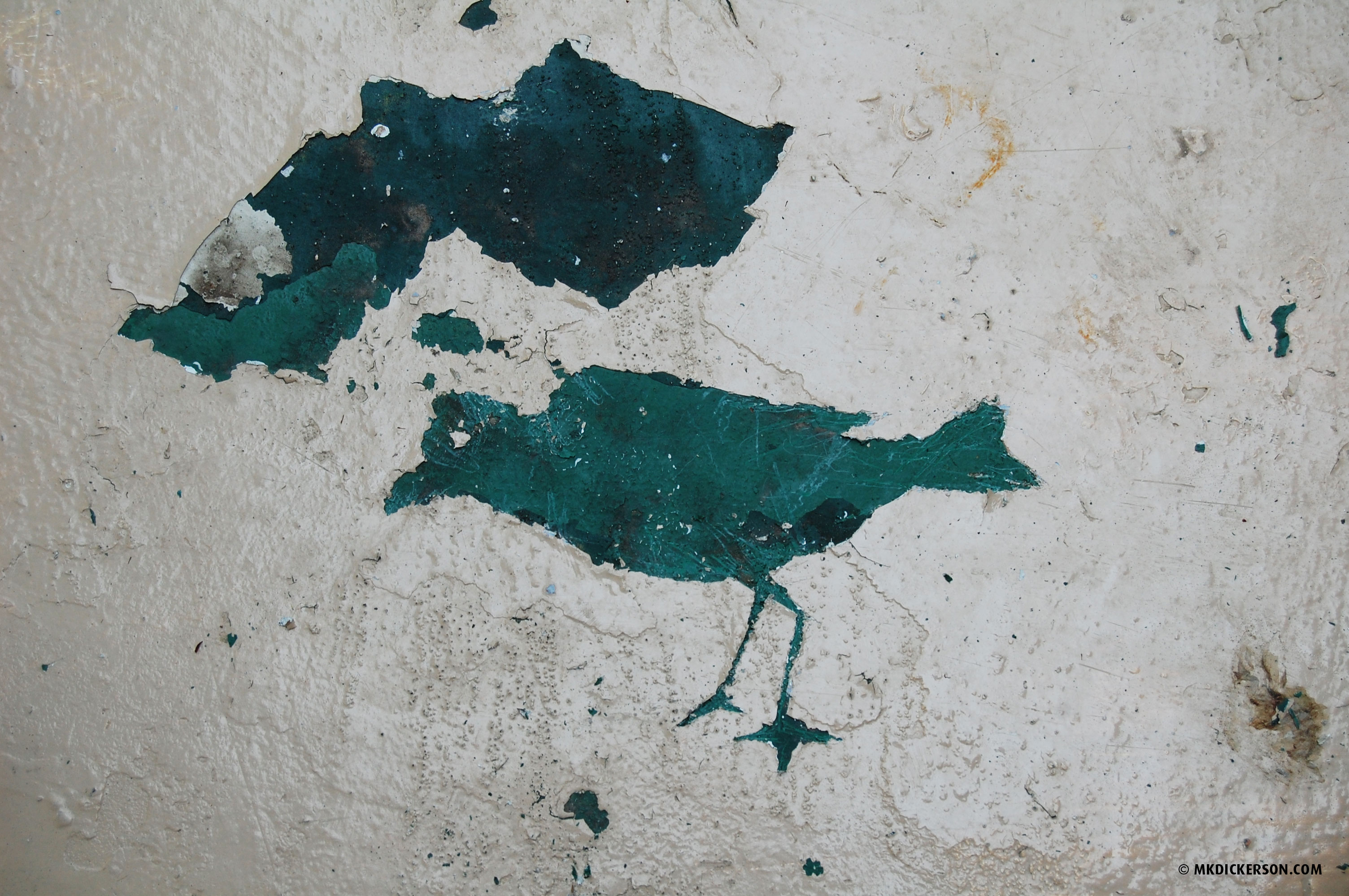 Day 152. Peeling Paint Bird | Bird-A-Day Art