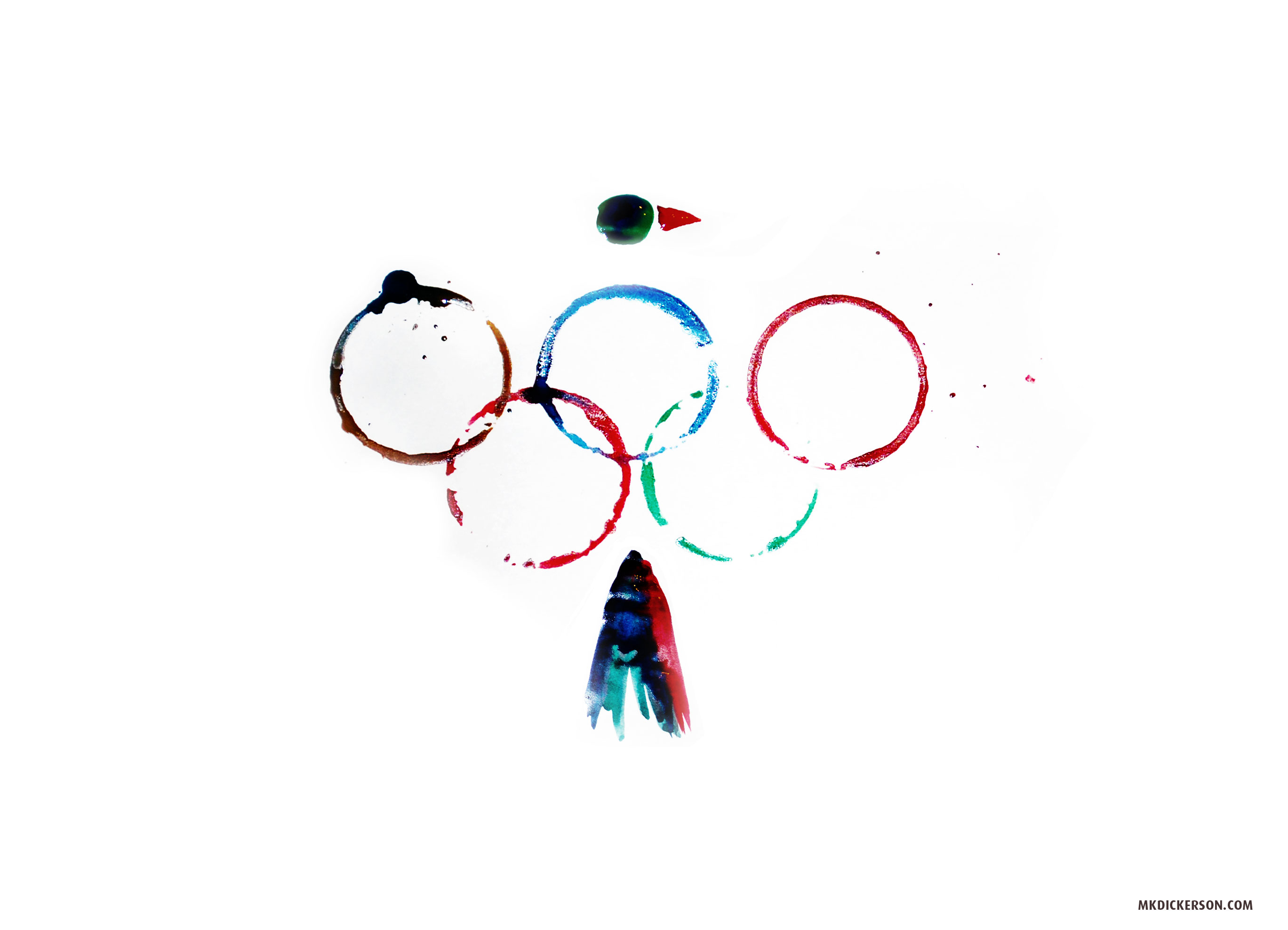 Olympic gold rings
