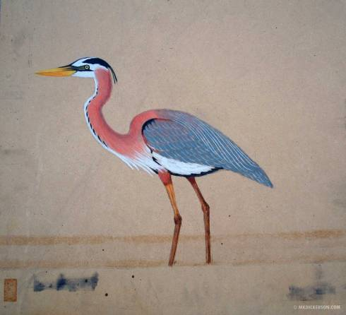 Pastel-Board-Bird
